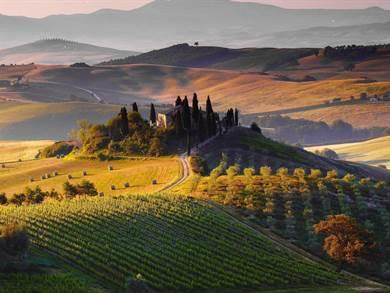 Siena, la Val d'Orcia e le Crete Senesi